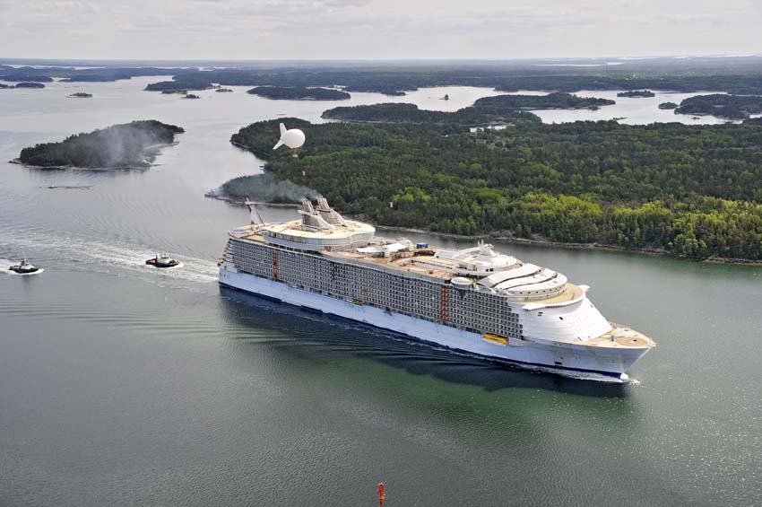 The 16th voyage of the Royal Caribbean's Oasis of the Seas has yielded a