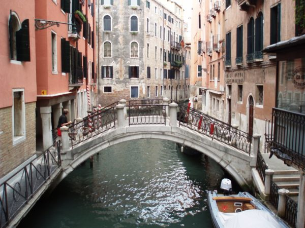 The gondola is the preferred method of transport in Venice, Italy.