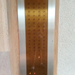 This cool life board tells you where a lift is at any given time! QT Gold Coast Hotel and Resort.