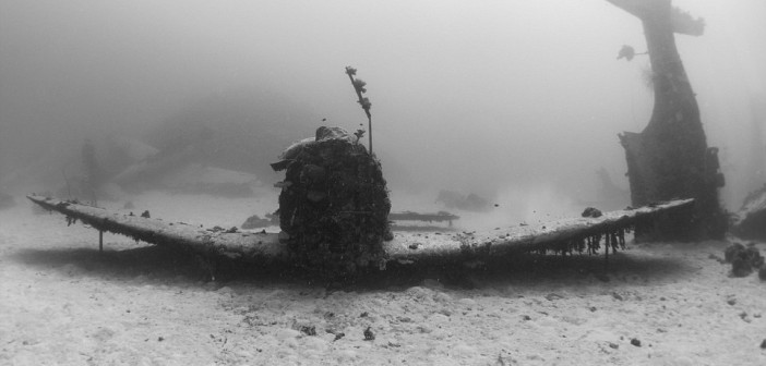 Incredible Photographs of WWII Planes Scattered on the Ocean Floor for    Scattered Photographs