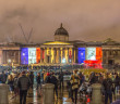 The National Gallery in London shows support for France in a public vigil.