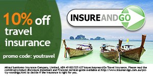 10% off travel insurance with discount code YOUTRAVEL