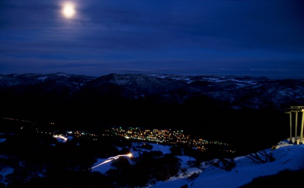 A moonlit night in Thredbo
