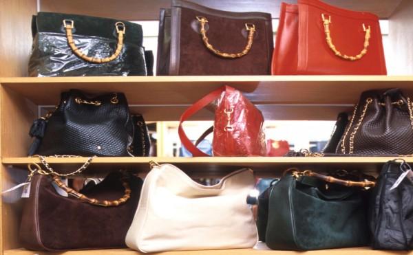 Handbags on sale at a Korean retail shop