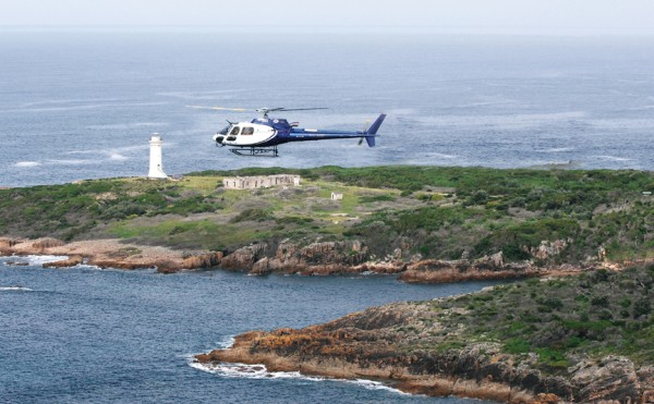 Newcastle Helicopters floating heliport for the Sydney harbour