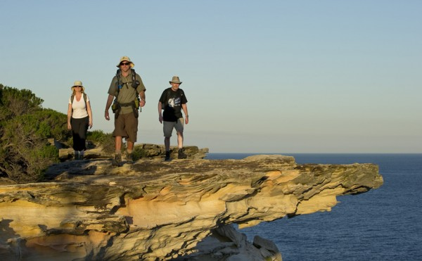 Sydney Coast Walks founder Ian Wells leading a group of tourists