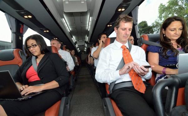 Inside a Platinum business class coach