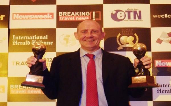 Iain McCormack, General Manager of Gili Lankanfushi Maldives at World Travel Awards 2012