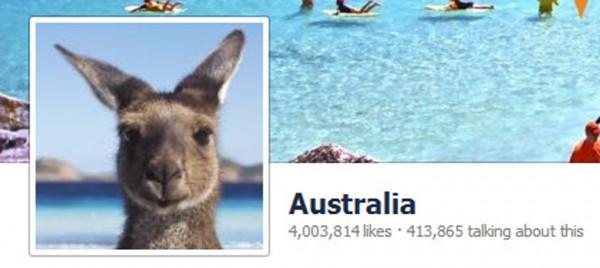 Tourism Australia Facebook page now has 4 million fans