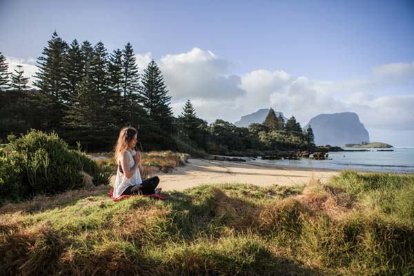 Meditating on the Old Settlement Beach