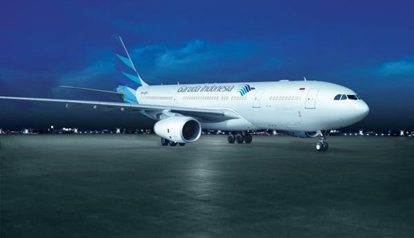 A Garuda Indonesia Flight Taxing on the runway