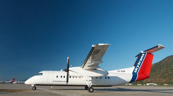 A Skytrans Dash 8 aircraft