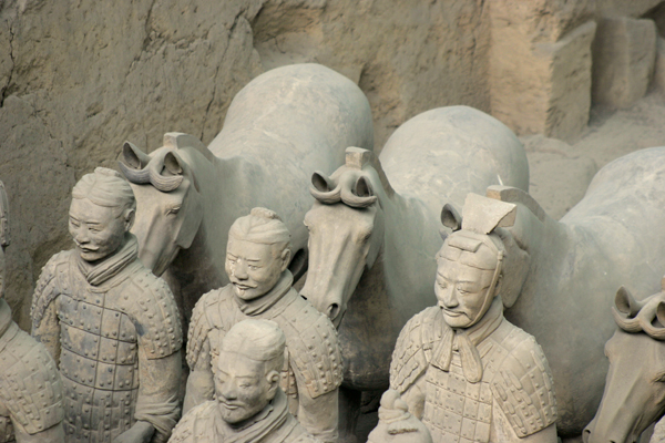 The ancient terracotta warriors of China