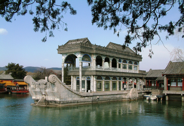 The Summer palace and the Marble Navy vessel