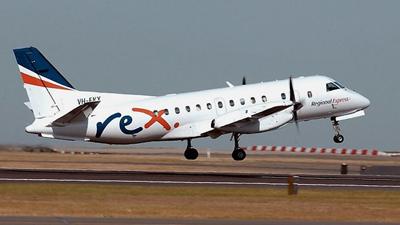 A Regional Express flight taking off