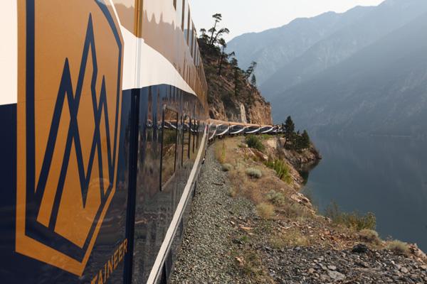 On the rails, Rocky Mountaineer train