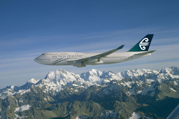 An Air New Zealand flight
