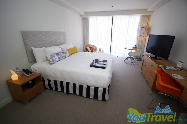 """This is one of the best beds in the business. Not to mention the massive 42"""" television!"""