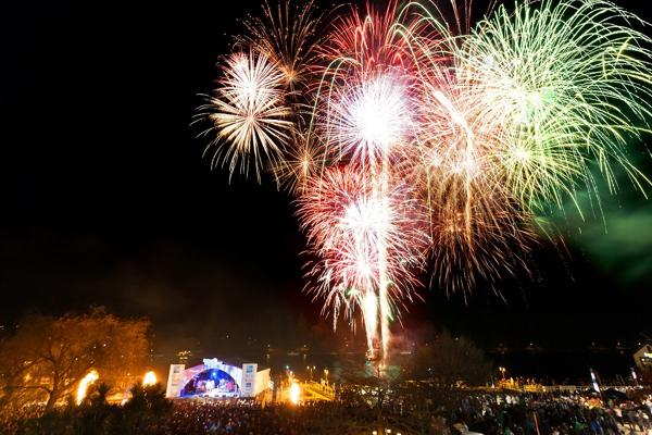 Winter festival opening fireworks 2012