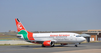 A Kenya Airways flight