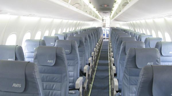 Interior of a QantasLink flight