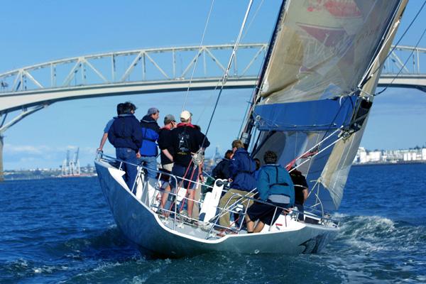 Sailing on the Waitamata Harbour
