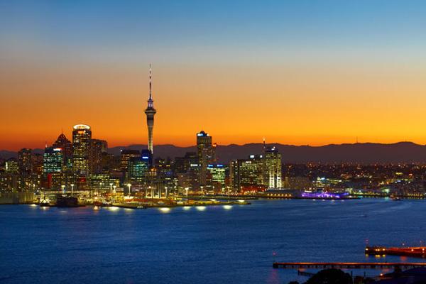 Sunset over Auckland - McLennan.
