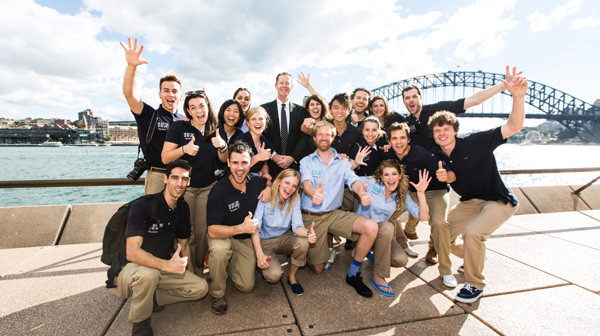 The 18 Best Jobs in the World finalists with Tourism Australia's Andrew McEvoy