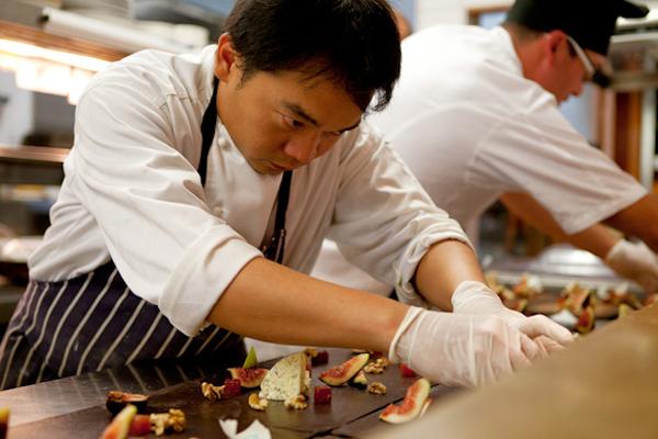 Orpheus's head chef Arie Prabowo