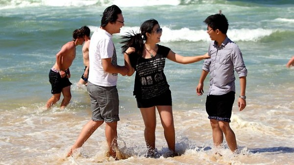 Tourists from China visit the Gold Coast photo credit: TheAustralian.com
