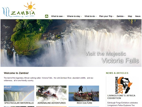 Revamped Zambiatourism.Com website