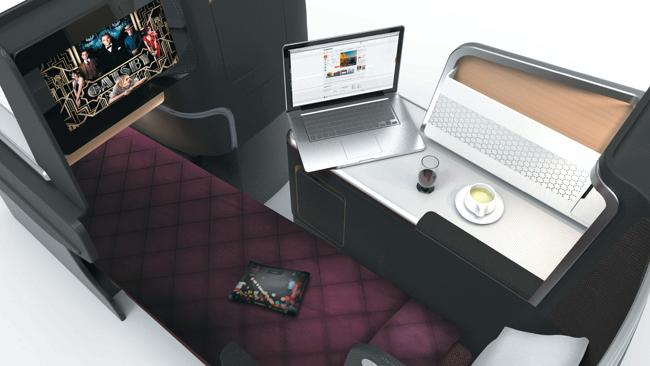 Qantas business class skybed Photo credit: Qantas