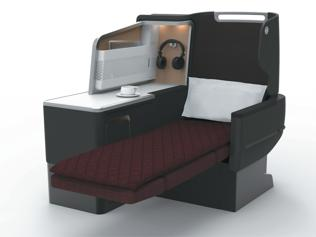 Qantas business class suite