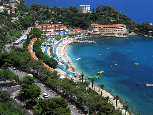 Monte Carlo, Monaco - a view of its beautiful beaches