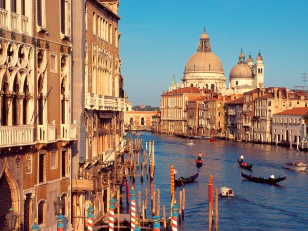 View of the Grand Canal, in Venice