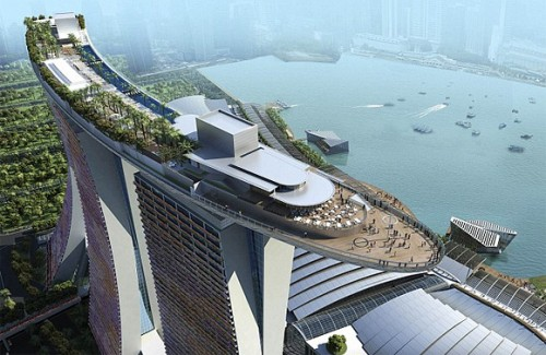 Marina Bay Sands, Singapore (from above)