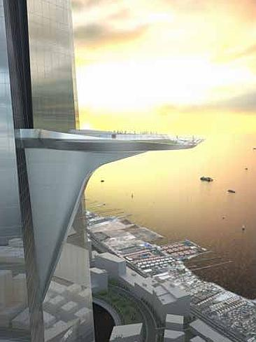 Kingdom Tower - don't look down! | picture credit: Adrian Smith + Gordon Gill Architecture