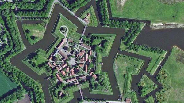 Shaped like a star, the village of Bourtagne in the Netherlands