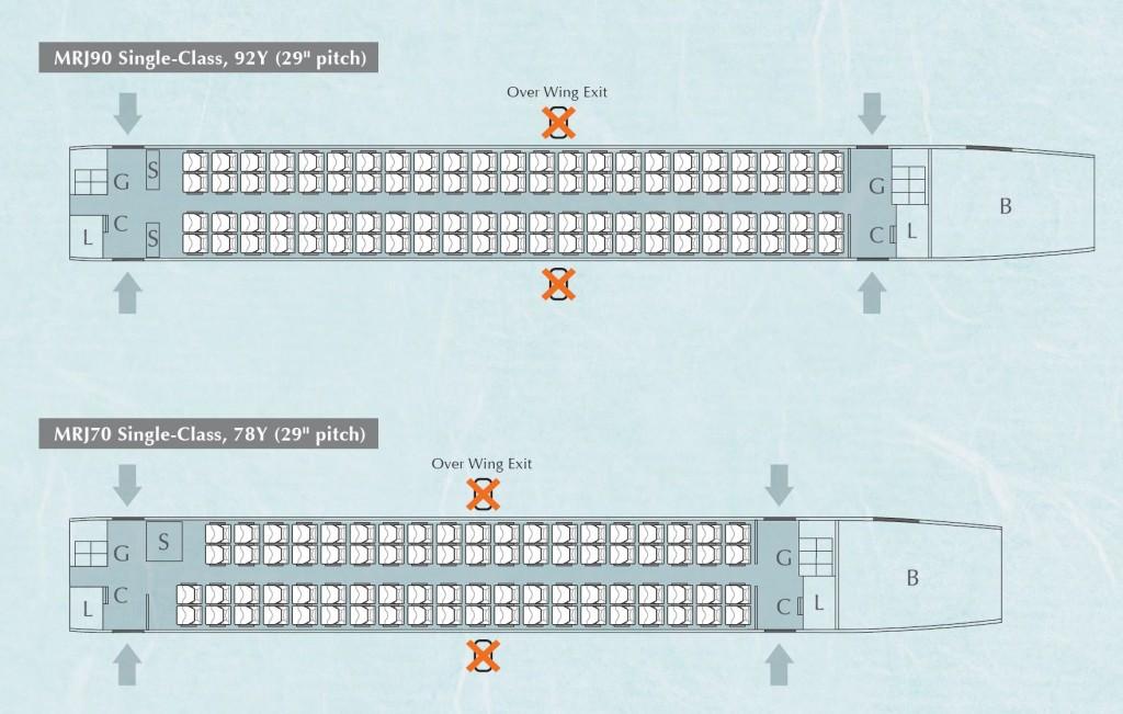 Mitsubishi Regional Jet - MRJ - Cabin Layout