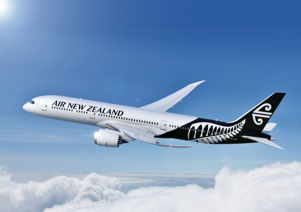 The latest Air New Zealand livery on display. Image: Air New Zealand