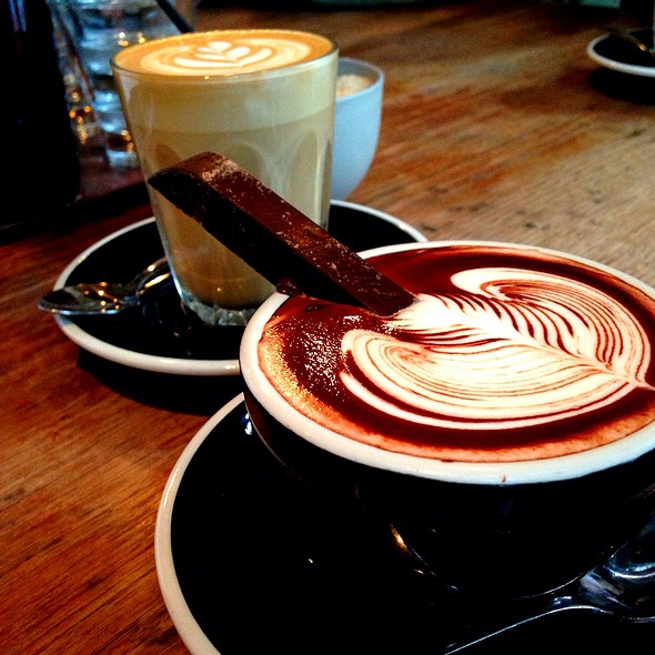 A most decadent hot chocolate at Brother Baba Budan.