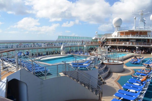 On deck of Golden Princess' sister ship, Sea Princess, 2013