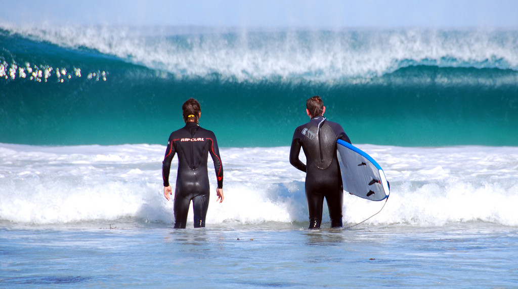 Surfers on the Margaret River