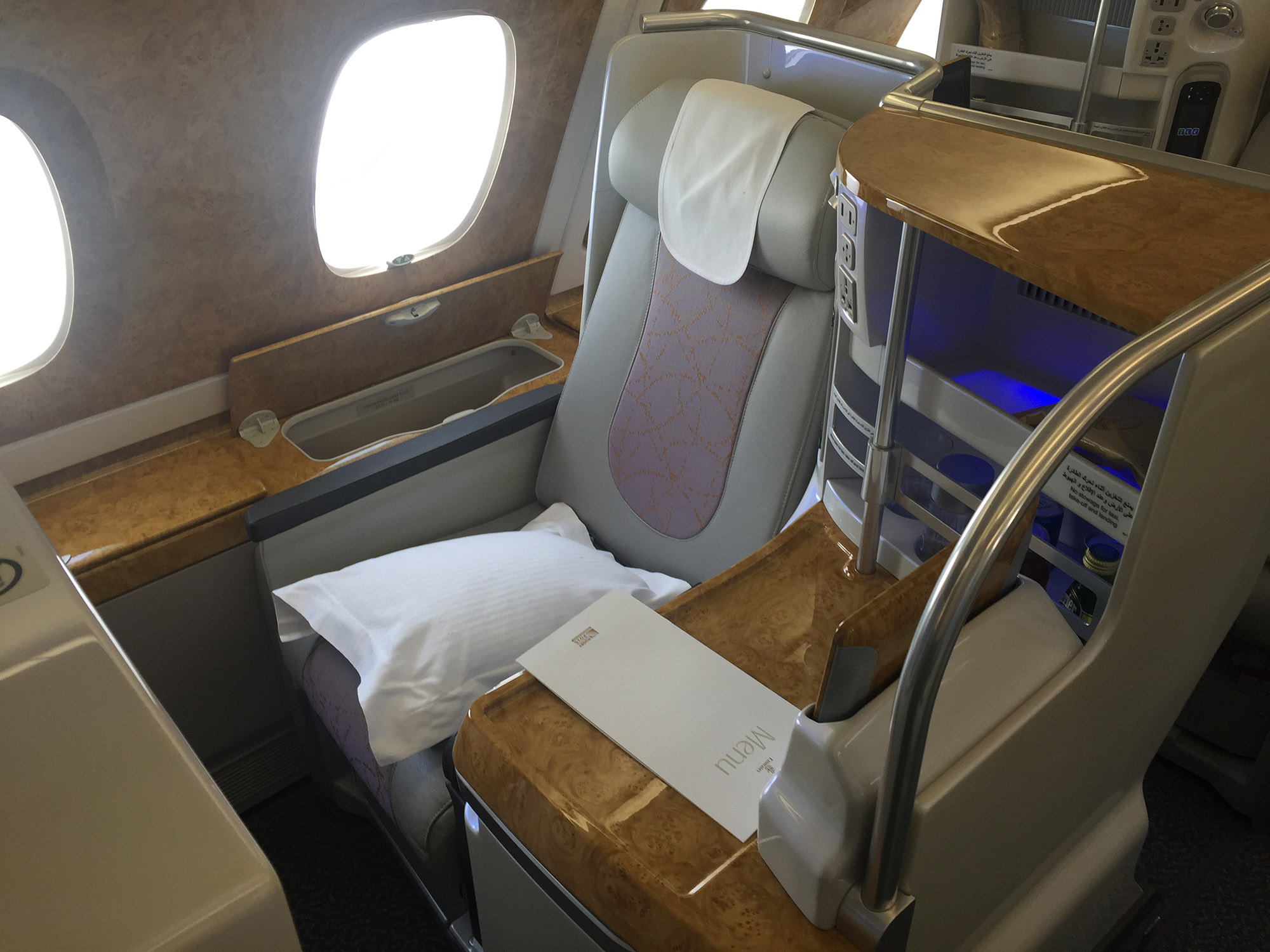 Emirates A380 Business Class Review — door-to-door with pics