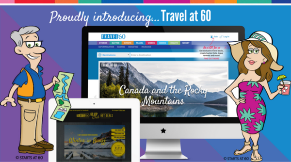 Starts at 60 launches a brand new travel website for community members and users
