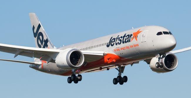 jetstar plane hits runway